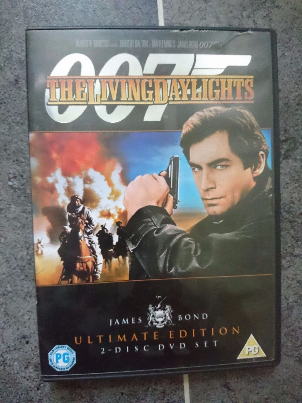 007 James Bond - The Living Daylights (DVD, 2006, 2-Disc Ultimate Edition) USED